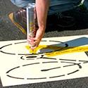 Schabloner för markering på marken