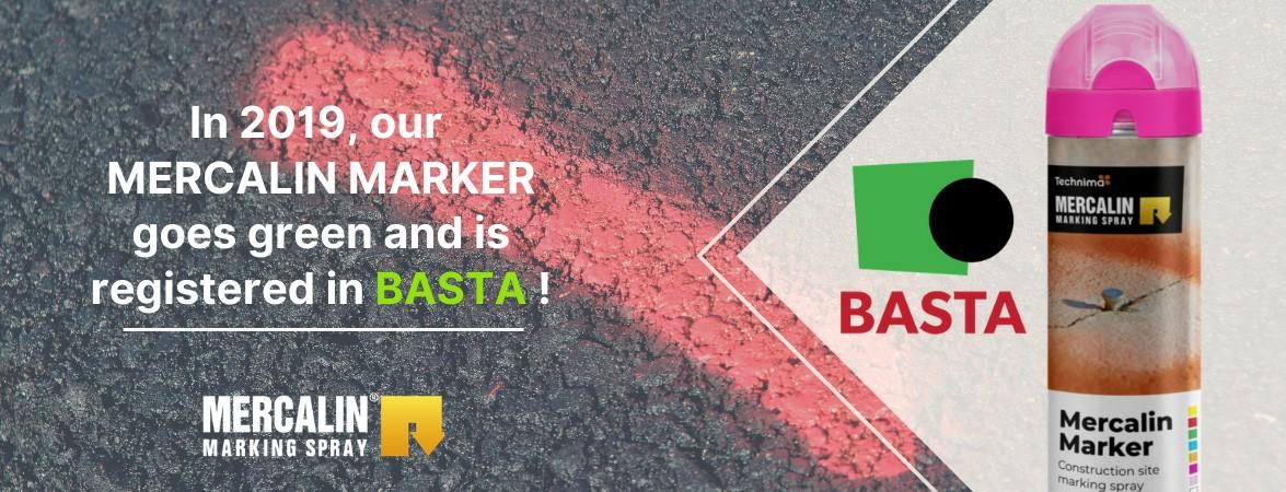 Mercalin Marker BASTA certification