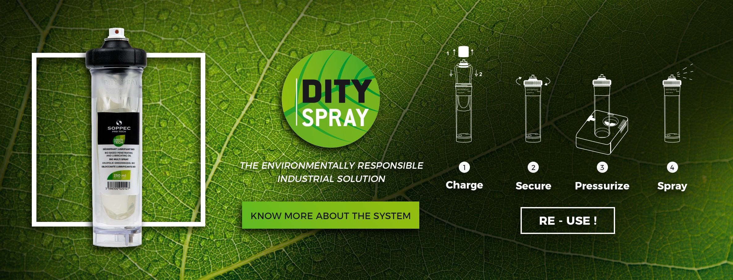 DITYSPRAY the refillable spray can